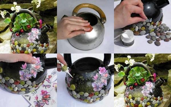 уникална декорация с камъчета