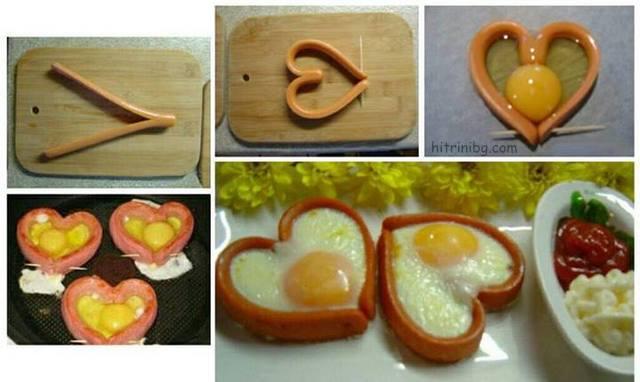 яйце във форма на сърце