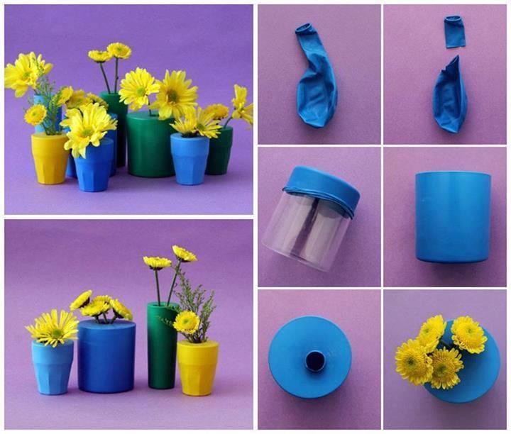цветна ваза с балони