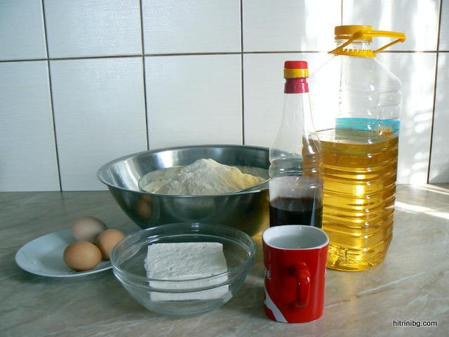 дърпана баница с яйца