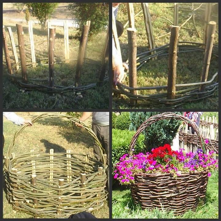 идеи за градината от плетени пръчки