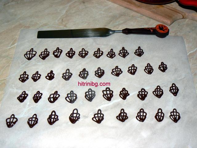 шоколадова торта орнаменти