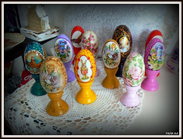 идеи за Великден - декупаж