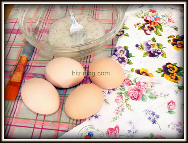 техника декупаж на яйца
