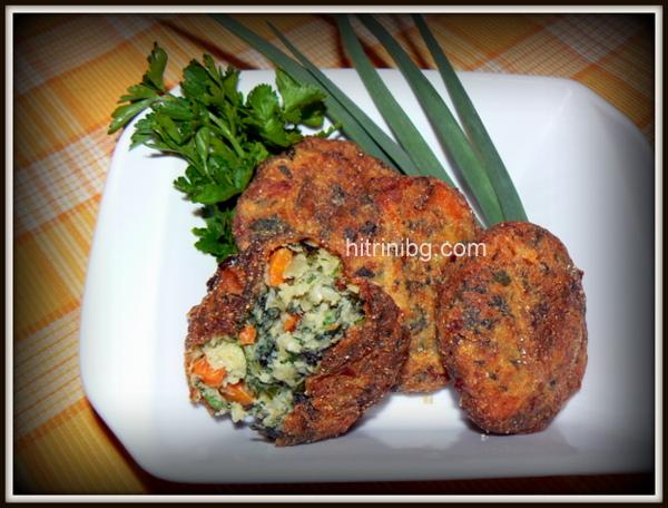 вкусни зеленчукови кюфтета