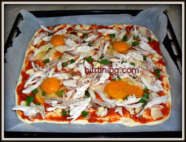 пица с пилешко месо