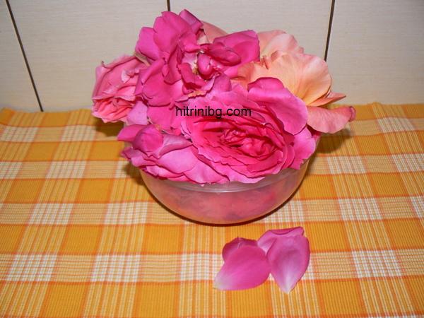 листенца за сироп от рози