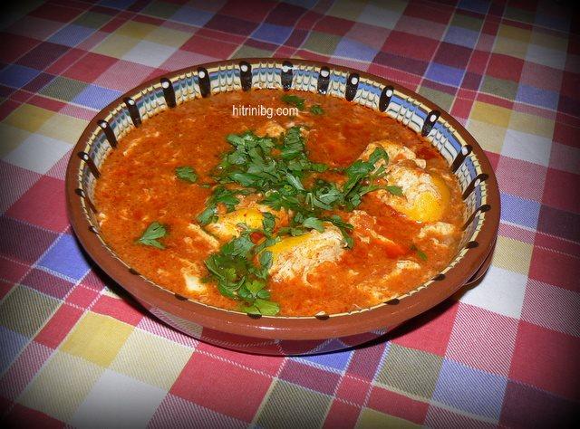яхния с яйца