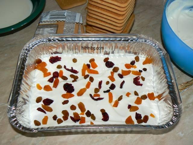 торта със сушени плодове