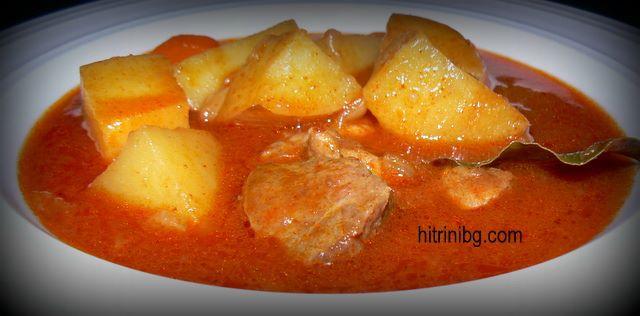 яхния с месо и картофи
