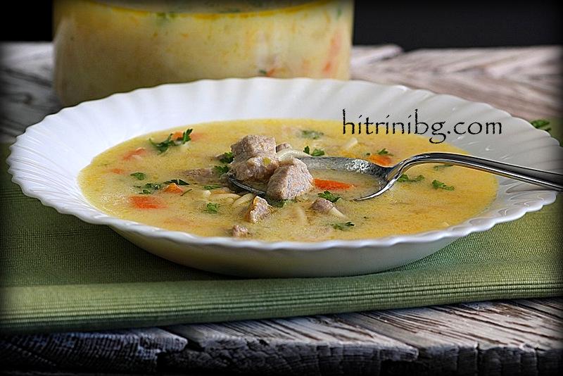 Супа със свинско месо и зеленчуци