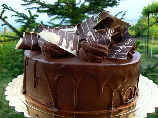 вкусна шоколадова торта с маскарпоне