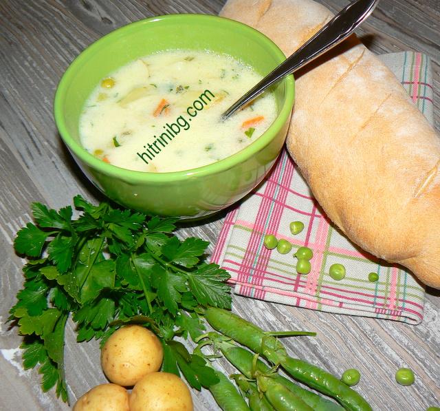 супа от пресни картофи