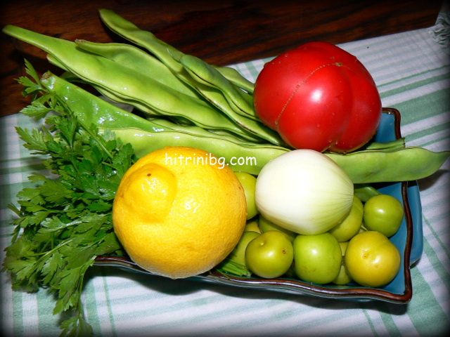 продукти за чорба от зелен боб с джанки