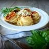 Спагети с тиквички и кайма