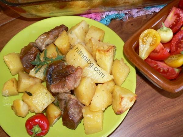 картофи със свинско