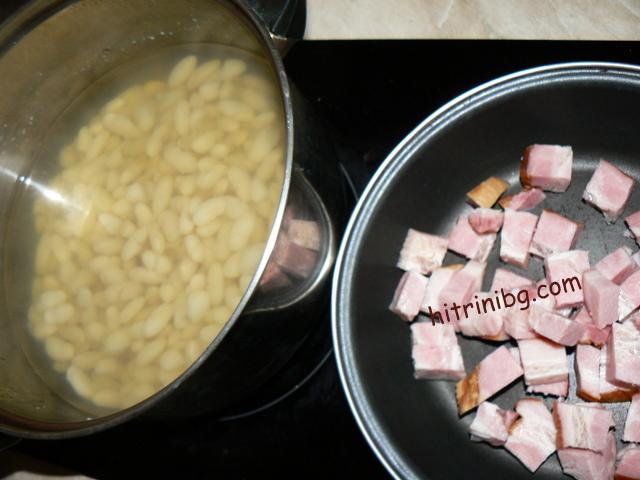 продукти за зрял боб с бекон