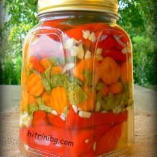 Парени чушки с моркови