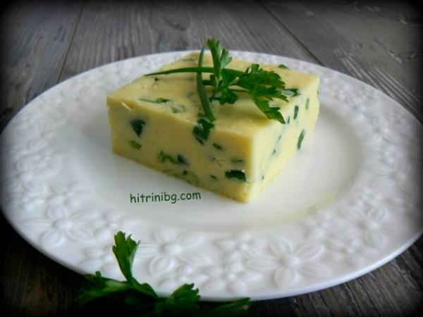картофено пюре със зелен лук