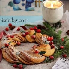 Коледен венец с канела