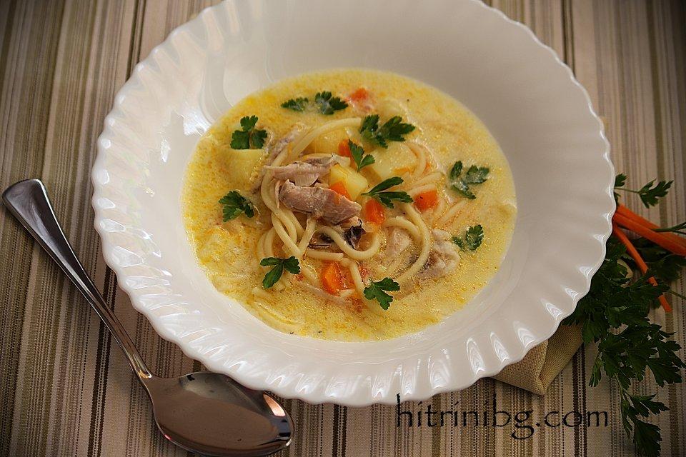 пилешка супа с фиде