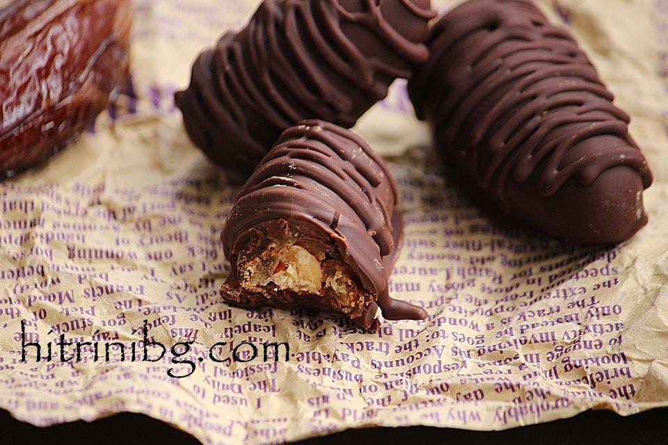 шоколадови бонбони с ядки