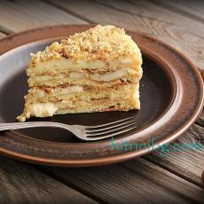 Селска торта с млечен крем