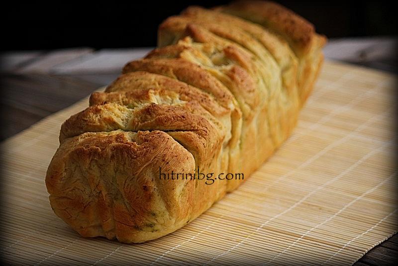 маслен хляб с масло и подправки
