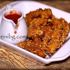 Пилешко с корнфлейкс - домашна рецепта