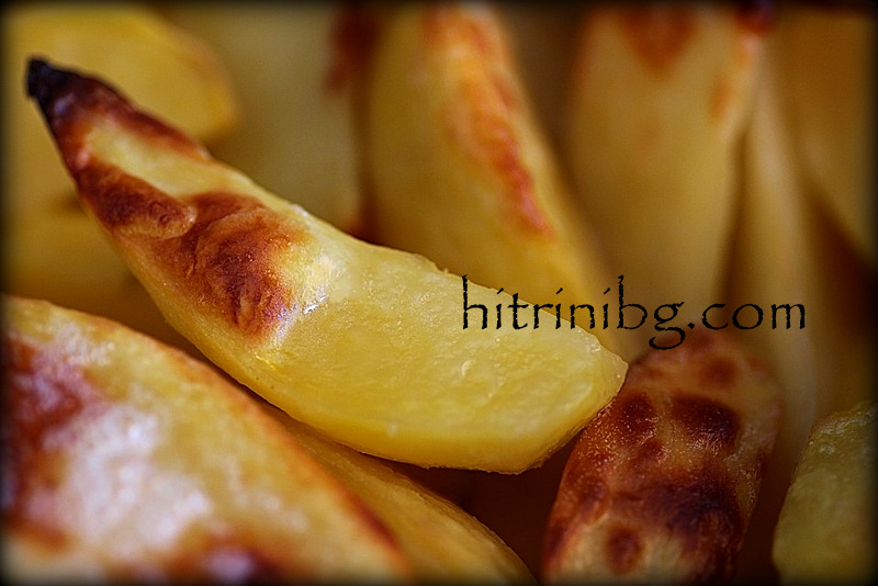 вкусни картофи в близък план