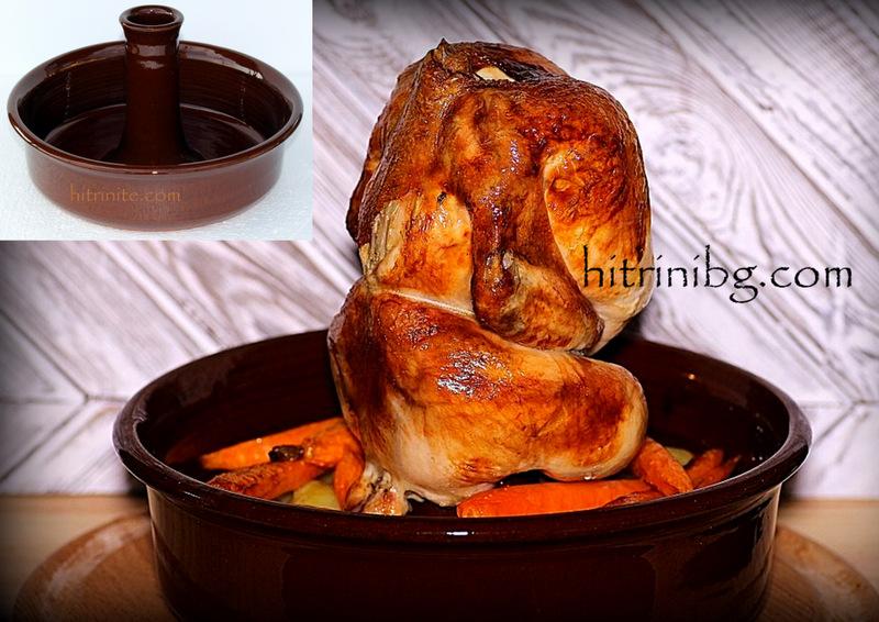 пиле в тава