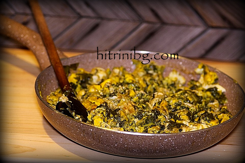Вкусни бъркани яйца с лапад
