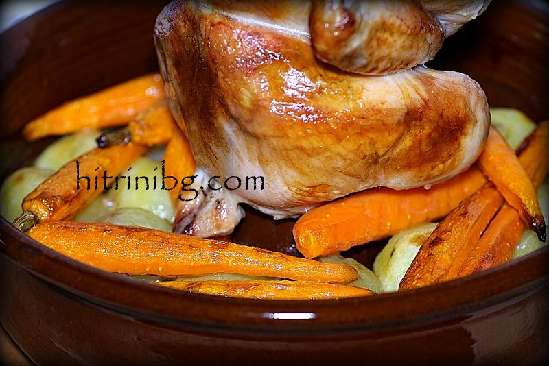изпечено пиле