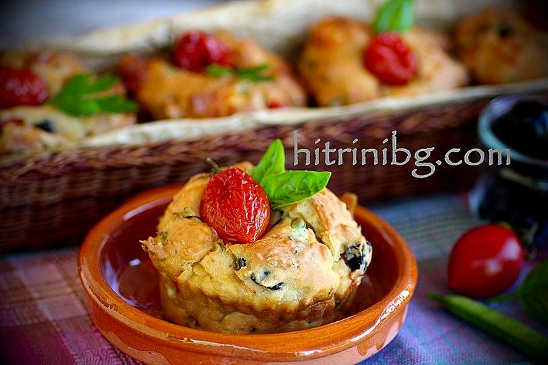 мъфини с маслини