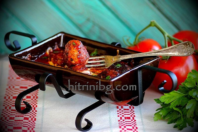 кюфтета в доматен сос за гладни