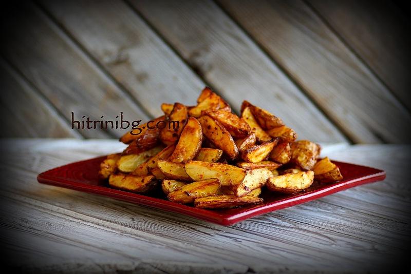 картофи по селски с мащерка