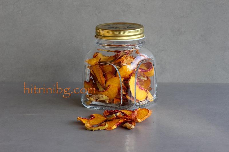 сушени плодове в буркан