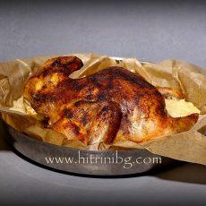 Печено пиле на сол