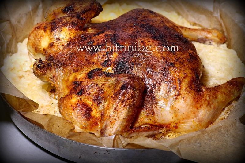 пиле на сол в тавата