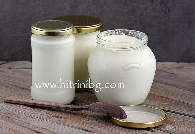 кисело мляко вкъщи