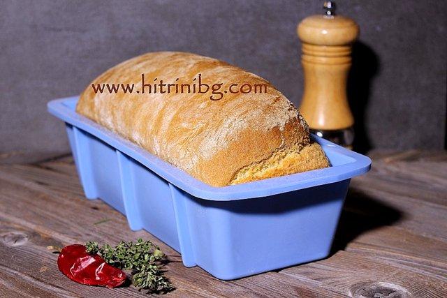 хляб със суроватка в силиконова форма