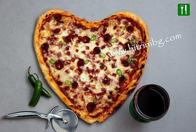 пица сърце