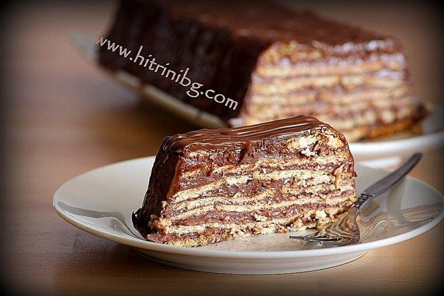 торта с крем какао