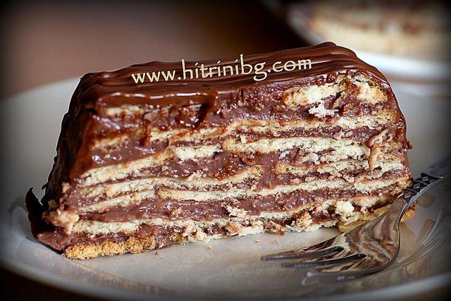 чудесна торта с крем какао