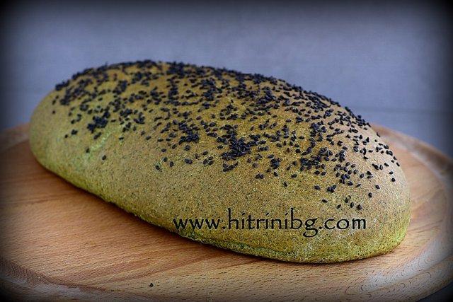изпечен хляб с коприва