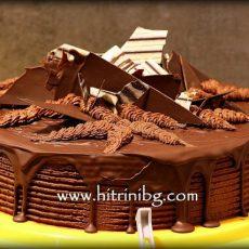 Торта с шоколад и пияни вишни