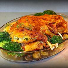 Пълнен заек с ориз на фурна
