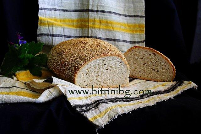 хляб със сусамова кора