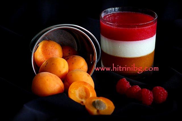плодов крем с малини и кайсии