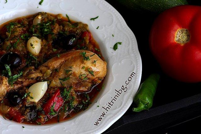 пикантно пиле по провансалски.